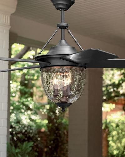 We bought this for our patio. D5510 Bronze Outdoor Ceiling Fan