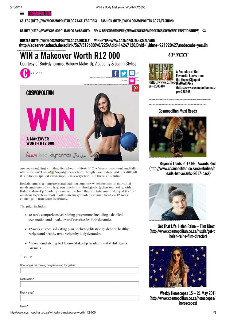 Online Competition done for Bodydynamics- Halouw Makeup Academy. #Cosmo #makeupjunkie #makeup #personaltraining #fitness #giveaway