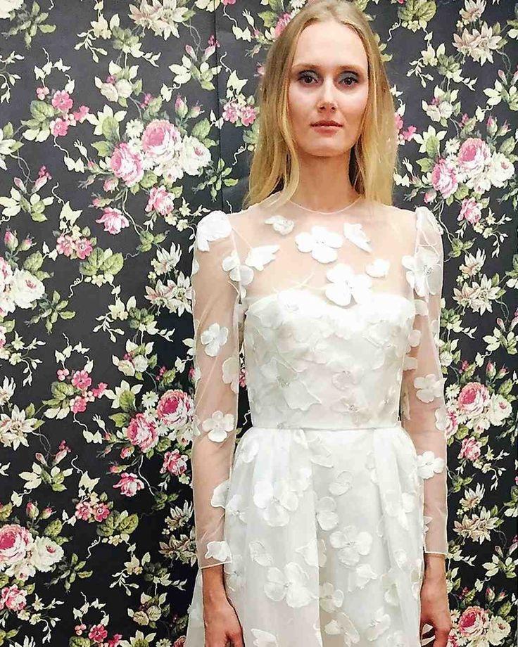 Elizabeth Fillmore Fall 2017 Wedding Dress Collection   Martha Stewart Weddings – Long-sleeve A-line wedding dress