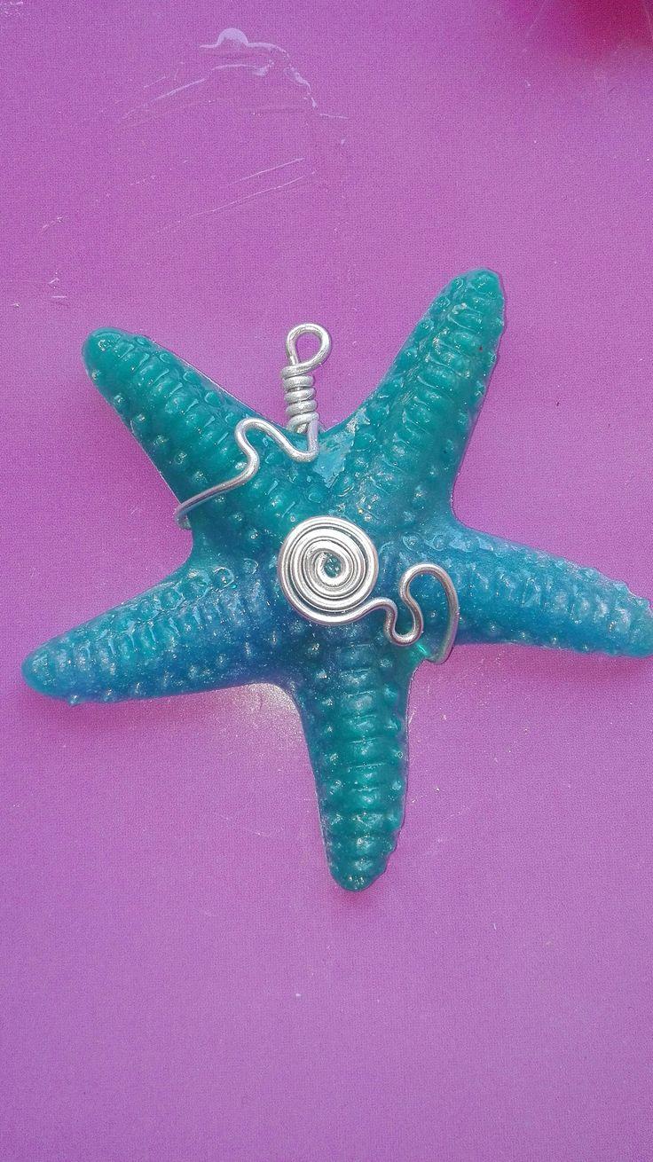 ciondolo stella marina incastonato wire di isaonmade su Etsy