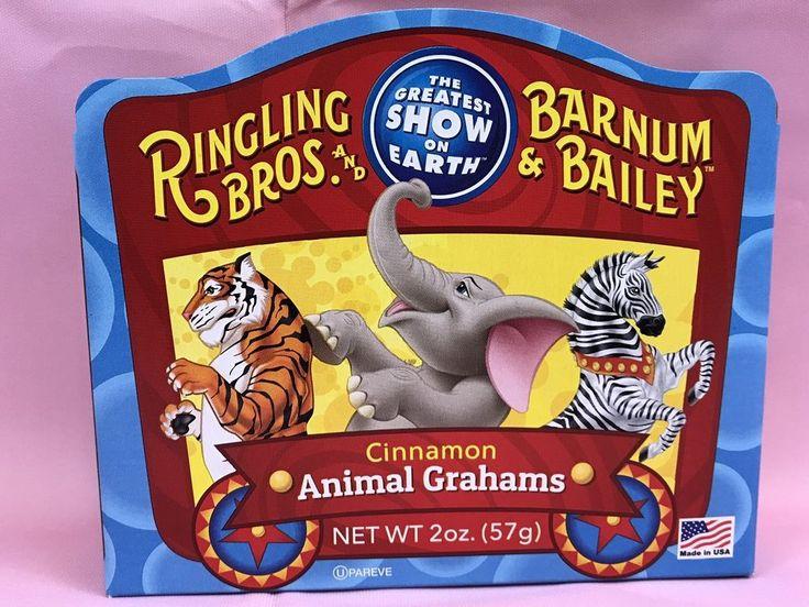 Ringling Bros And Barnum Bailey Circus Cinnamon Animal Grahams 2 Oz New Gift  | eBay