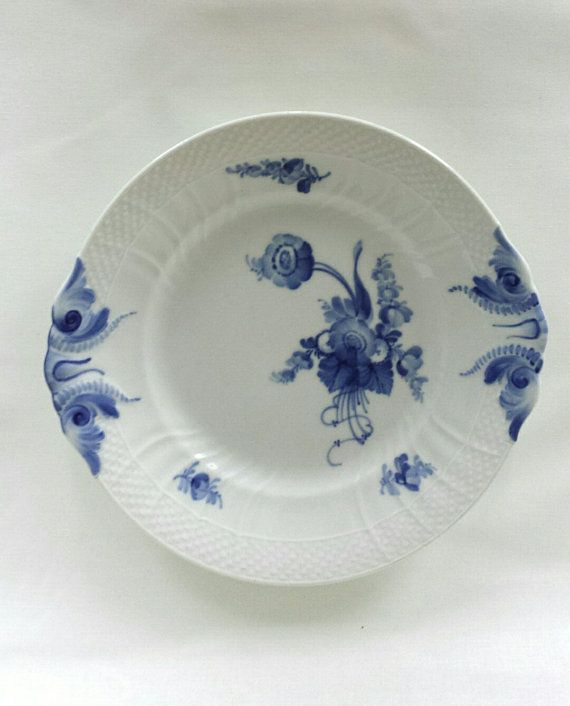 Royal Copenhagen blue flowers curved cake plate
