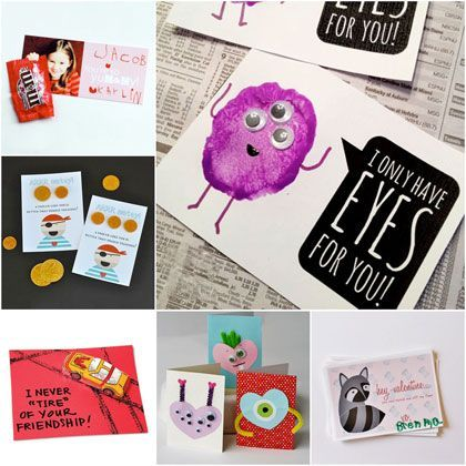 Funny Valentine Cards - quick and funny Valentine's Day cards for children to make and download | MollyMooCrafts.com for @Spoonful