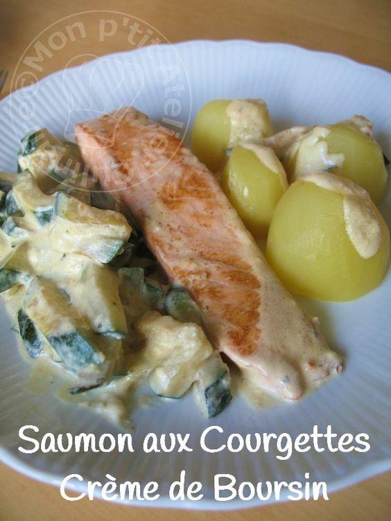 Saumon aux Courgettes, crème de Boursin1