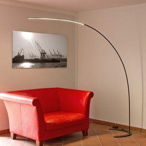Buet LED-stålampe Danua i svart