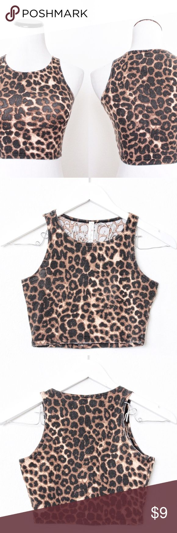"""Crushing Hearts Cheetah Animal Print Crop Top Crushing Hearts ⑊ Size S  ⌁ Measurements: 13"""" length 13.5"""" bust  ⌁ Material: 95% cotton 5% spandex  ⌁ Condition: Used. A little faded.  Comment below if you have other questions. Please make all offers using the """"offer"""" button. No trades or PayPal. No holds (first come, first serve). Comes from a smoke-free/pet-free home. Not responsible for lost/damaged mail. All sales are final. ♡ Crushing Hearts Tops Crop Tops"""