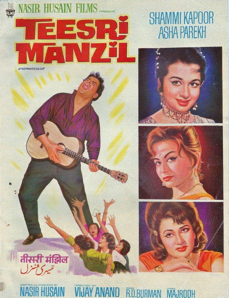 Vintage poster of Teesri Manzil 1965. Shammi Kapoor, and Asha Parekh