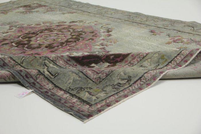 vintage vloerkleed groen grijs (283cm x 181cm) | Rozenkelim.nl - Groot assortiment kelim tapijten