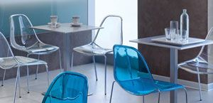 Polycarbonate chairs   Italian contemporary furniture