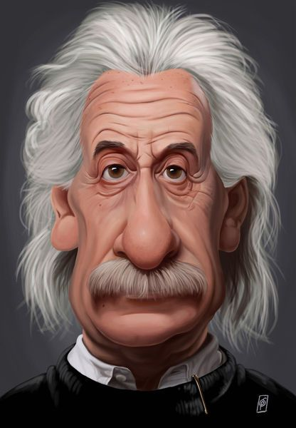 'Celebrity Sunday - Albert Einstein' by rob-art on artflakes.com as poster or art print $14.38 art | decor | wall art | inspiration | caricatures | home decor | idea | humor | gifts