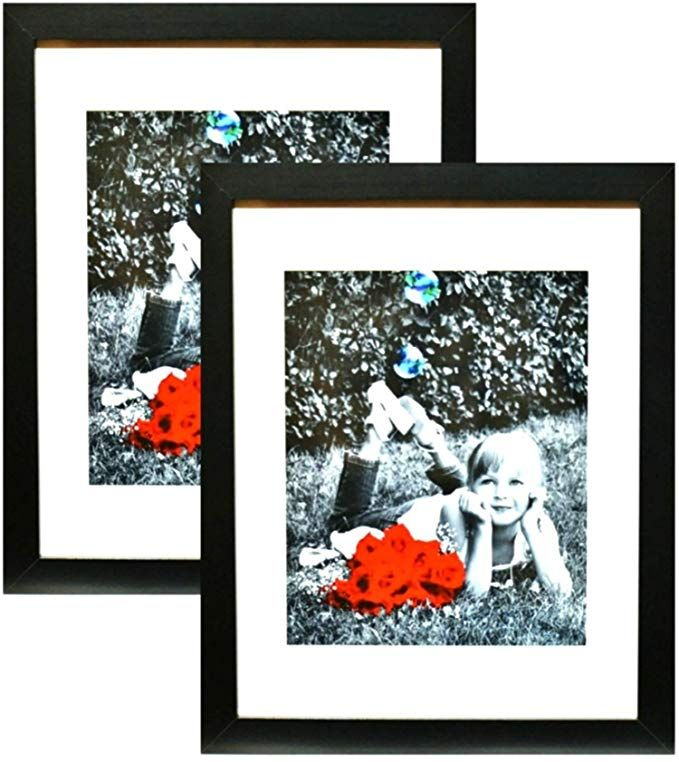 11x14 Inch Picture Frame Black 2 Pack High Definition Glass Front Cover Displays 11 By 14 Picture W O Mat Or An 11x14 Picture Frame Picture Frames Frame