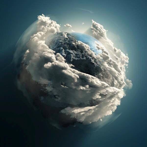 Earth as seen through the Hubble telescope