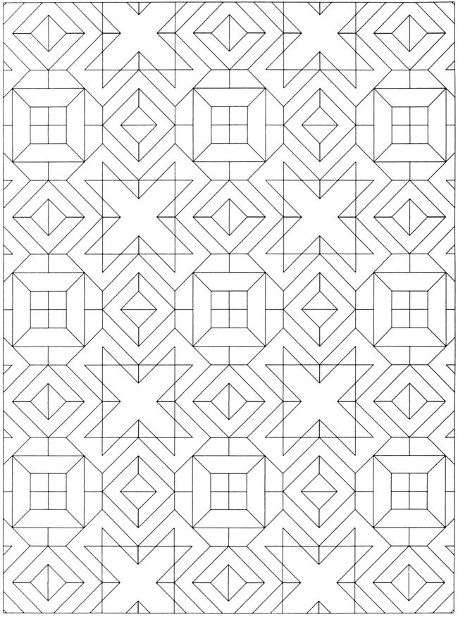Creative Colouring Patterns : Creative haven geometric allover patterns coloring book