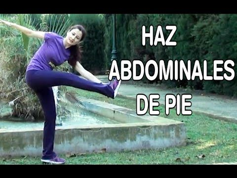 ▶ EJERCICIOS ABDOMINALES DE PIE-ABDOMINALES Y OBLICUOS PARADOS-ABDOMEN PLANO Y CINTURA DE AVISPA - YouTube