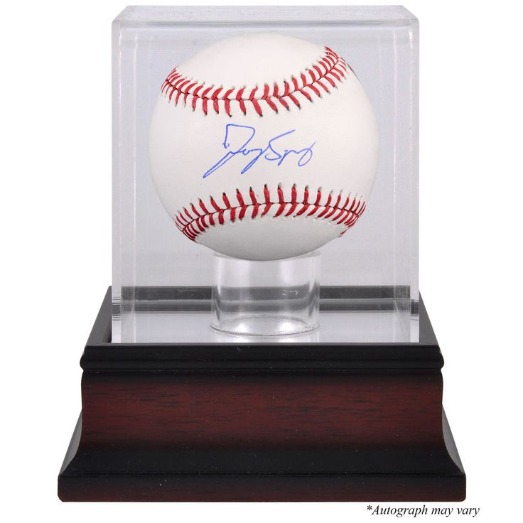 George Springer Houston Astros Fanatics Authentic Autographed Baseball and Mahogany Baseball Display Case - $103.99