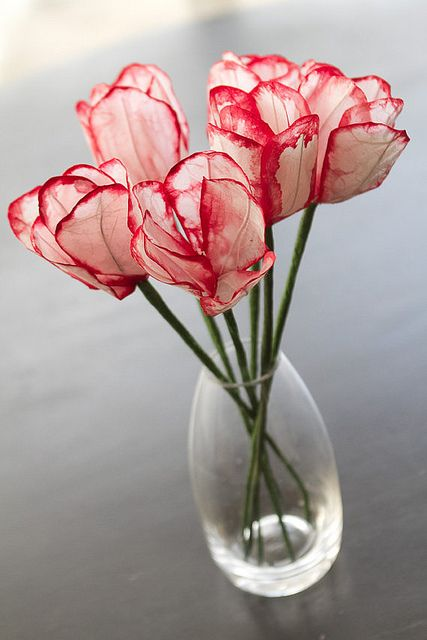 Paper Tulips. No, really.  Candy Stripe Tulips by all things paper, via Flickr