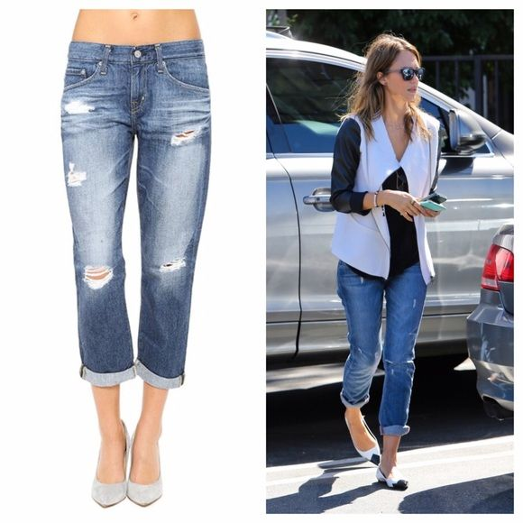 AG Adriano Goldschmied ex boyfriend jeans crop Relaxed fit size 25. Worn once! AG Adriano Goldschmied Jeans Boyfriend