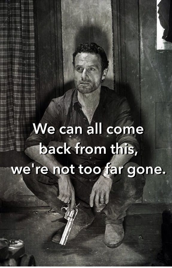 """Rick Grimes to The Governor at 4x08 """"Too Far Gone"""" 