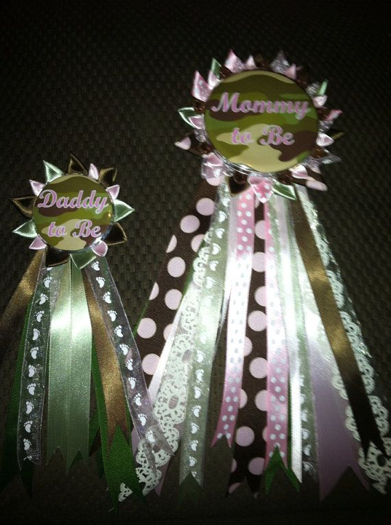 Camo baby shower set by jessiekaydesigns on Etsy, $19.00