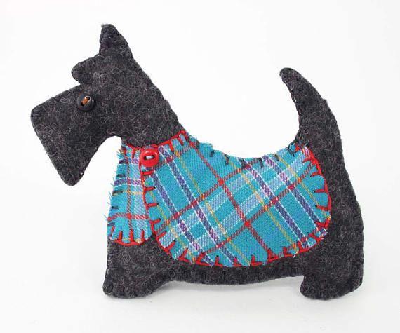 Perro del Scottie Navidad Adorno ornamento del perro de
