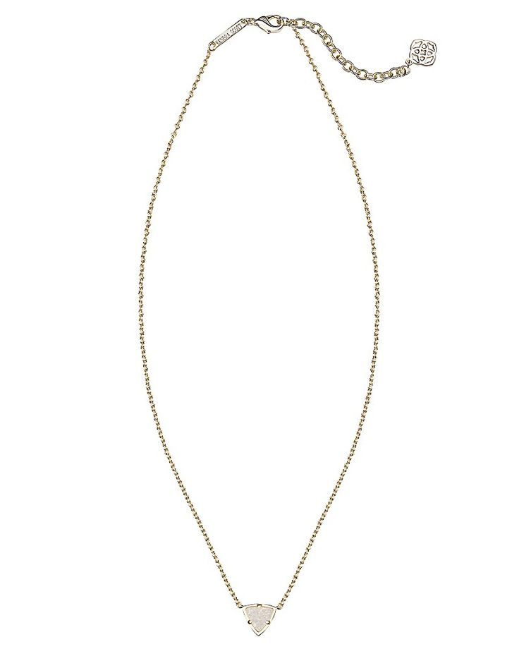Christmas 2015- Kendra Scott Perry Gold Pendant Necklace in Iridescent Druzy