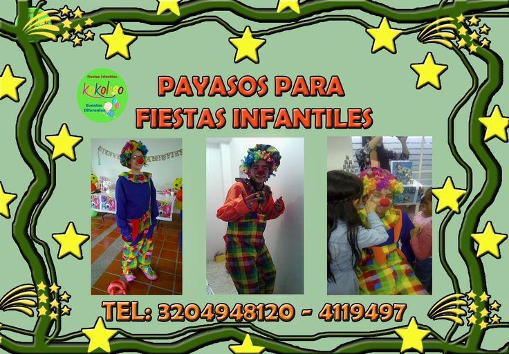 tenemos los mejores payasos para fiestas infantiles bogota a increibles precios llamanos #fiestasinfantilesbogota llámanos 3204948120-4119497