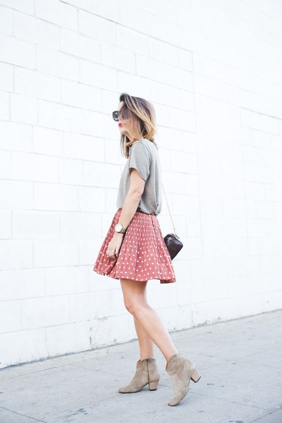 Skater skirts a desert booties.