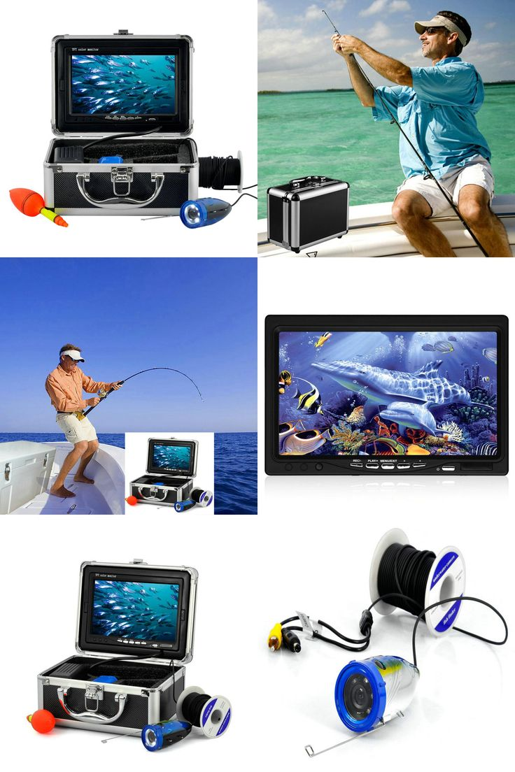 """[Visit to Buy] 15m Cable 1000TVL Underwater Camera For Fishing 7"""" TFT LCD Color Monitor 12- LED Underwater Video Camera Fishing Finder #Advertisement"""