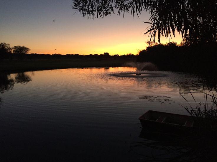 Beautiful sunset over the 18th dam... #zebula #sunset