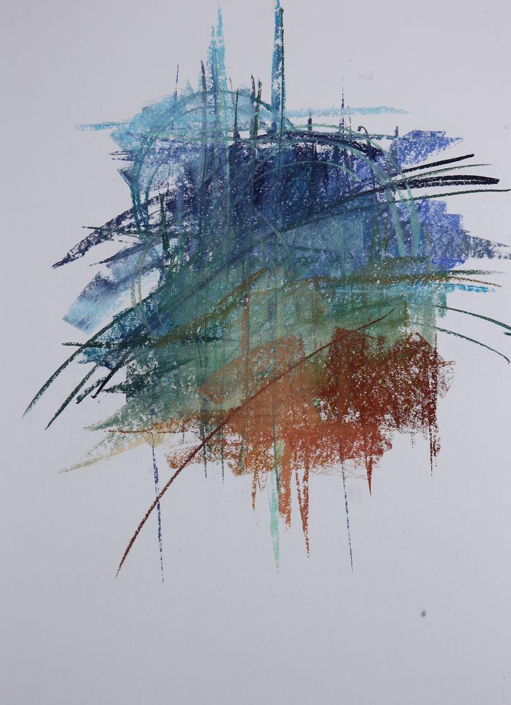 Michael Třeštík, 400 colors on 10 sheets, series II, No. 8, 2016, pastel A1