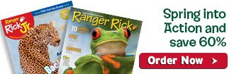Subscribe to Ranger Rick magazines and save 60%