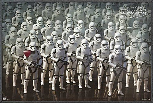 The Force Awakens Posters Many Stormtroopers- Framed