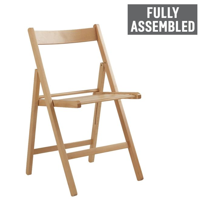 buy simple value wooden folding chair natural at argoscouk your