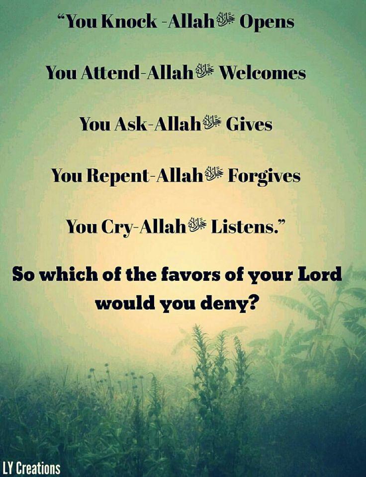 You knocks Allah opens