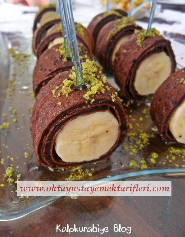 Muzlu Ballı Kakaolu Krep Lokmaları