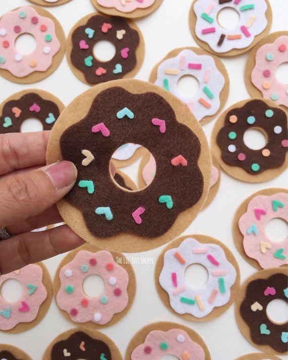 Donut Banner Doughnut Banner Donut Garland by TheLilFeltShoppe