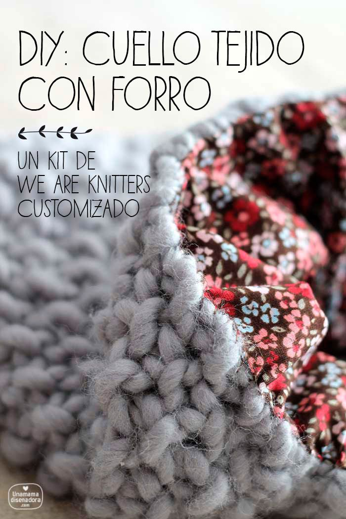 "We are knitters: el kit ""Downtown Snood"" customizado"