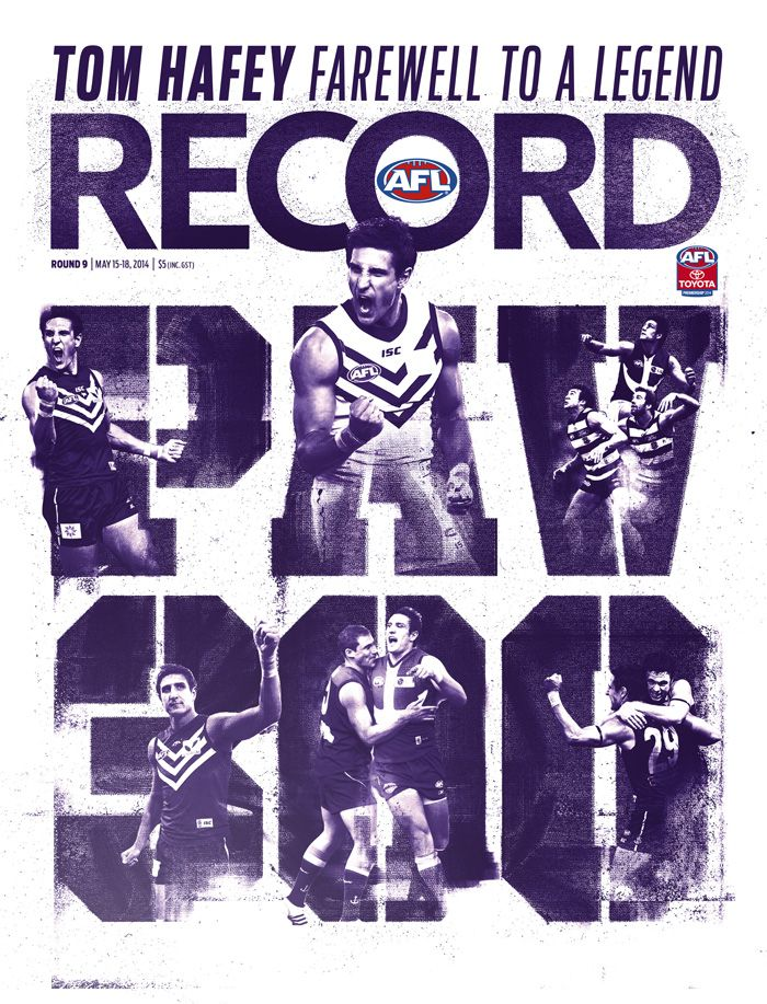 2014 AFL Record Round 9 | Matthew Pavlich 300 games | Publication Cover