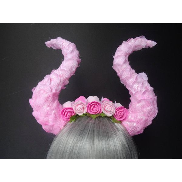 Fairy headpiece, fairy crown, fairy horns, dragon horns, horn... ($72) ❤ liked on Polyvore featuring accessories, hair accessories, rose crown, rose headbands, head wrap headband, rose hair accessories and hair band headband