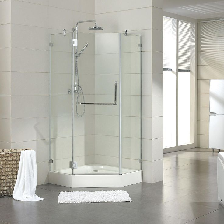 1000 ideas about neo angle shower on pinterest glass - Wd40 on glass shower doors ...