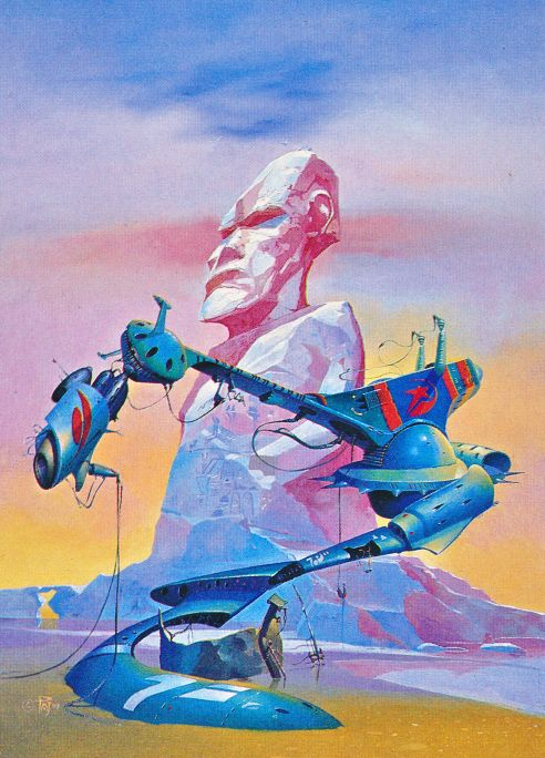 martinlkennedy:  Peter Jones - The Chalk Giants (1977) from his retrospective art book 'Solar Wind' (1980)