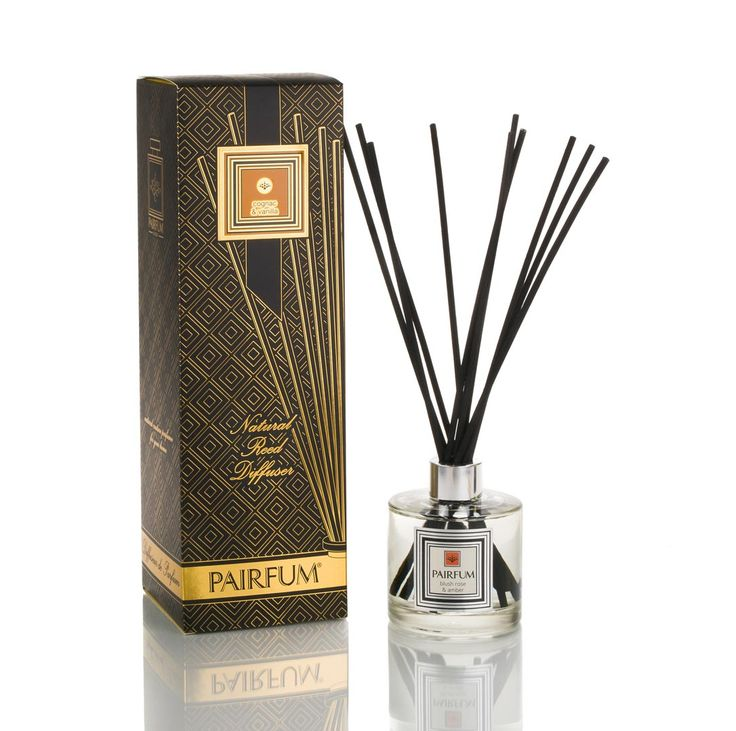 #Natural & #Healthy #Reed #Diffuser Tower Large - #Perfumes for 8 Months - Cognac & Vanilla Olive - #Noir