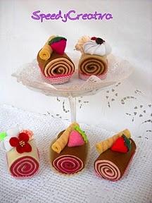 felt cakes speedycreativa.blogspot.it