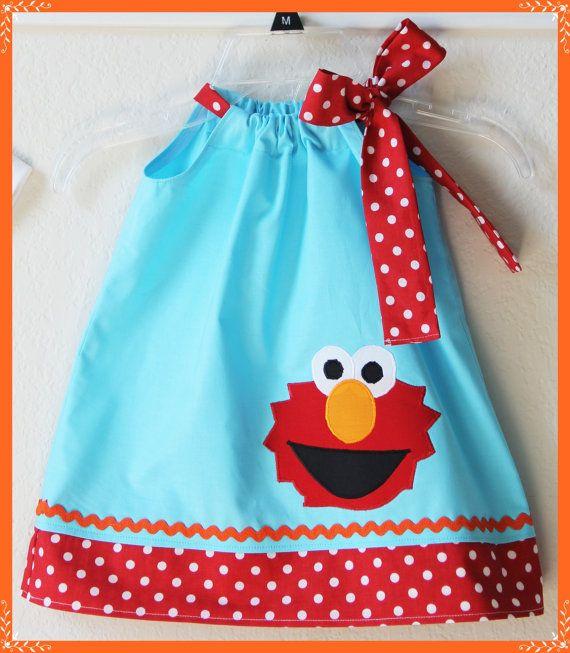 Super Cute Sesame Street Inspired Elmo by LilBitofWhimsyCoutur, $24.00