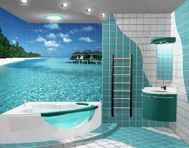 Ванная комната с мечтой о море...