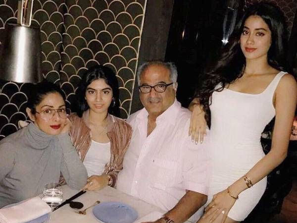 See how Sridevi and her daughters celebrated Boney Kapoor's birthday