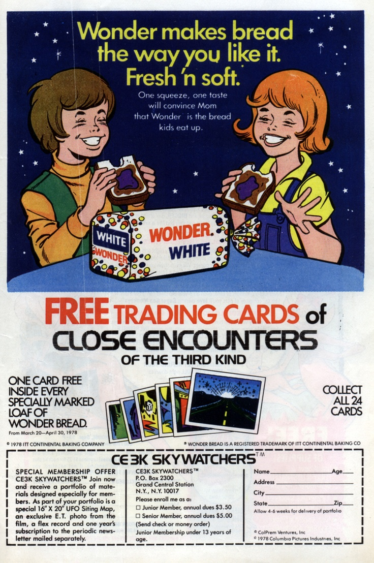 Wonder Bread's 1978 Close Encounters of the Third Kind promo