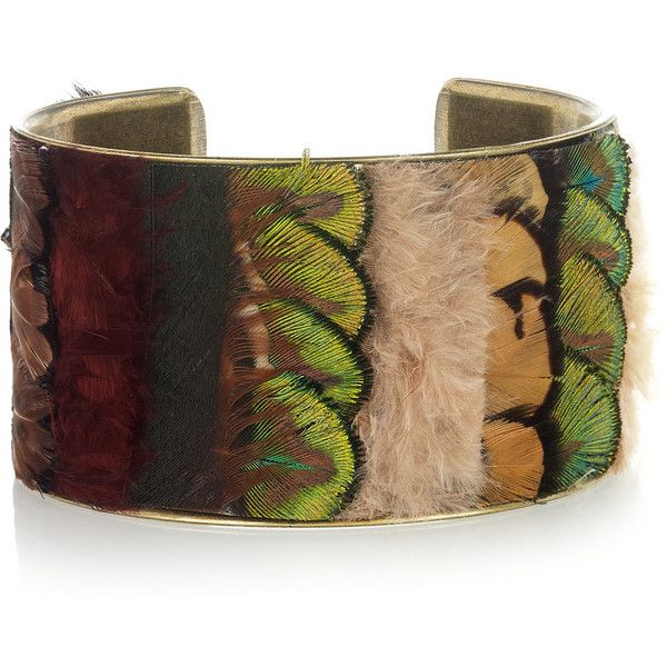 Isabel Marant All The Midnight In The World feather cuff and other apparel, accessories and trends. Browse and shop 8 related looks.