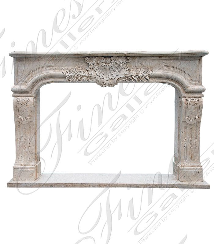 Marble Fireplaces – Elegant Shell Marble Fireplac…