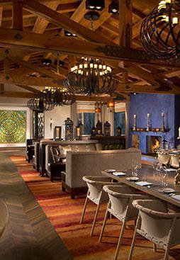 The stunning Veladora restaurant, at Rancho Valencia, San Diego, California.